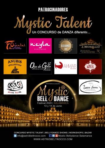 Cartel Mystic Talent PATROCINADORES